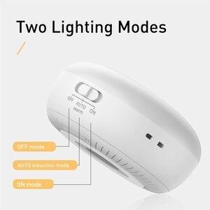 Image 5 - Baseus Luce di Notte del LED con PIR Sensore di Movimento Intelligente Nightlight Per Ufficio Camera Da Letto di Casa Camera Da Letto Umani di Notte di Induzione Lampada