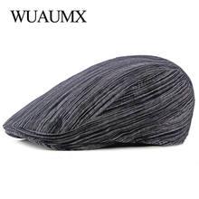 Винтажные летние береты wuaumx для мужчин и женщин полосатый