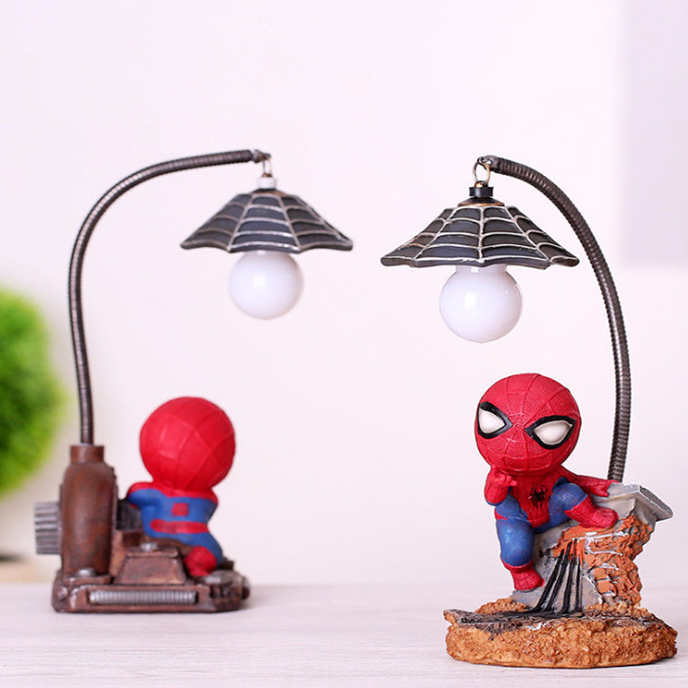 Image 3 - HOT Spiderman Led Night Light Resin Spider Man Lamp for Children Kids Rooms Home Left Decor Birthday Christmas Gifts-in Night Lights from Lights & Lighting