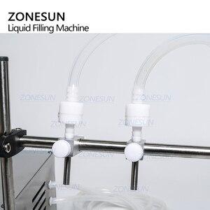Image 3 - Zonesun máquina de enchimento de líquido, manual elétrico digital para controle de maquinaria, tubo de garrafa pequena, máquina de enchimento de óleo de suco, água mineral