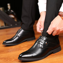 Classic Men Shoes Zapatillas Hombre Casual Microfiber Leather Flats Business Formal Men Dress Shoes Slip On Oxfords(China)