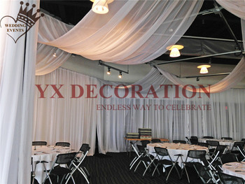 10FT Width Ceiling Drapery Ice Silk Roof Canopy Fabric Draping For Wedding Event Decoration