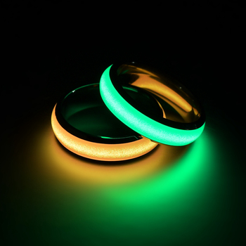 Novelty Stainless Steel Luminous Rings Stainless Steel Noctilucent Tabs Men Ring anillos mujer bague femme 3