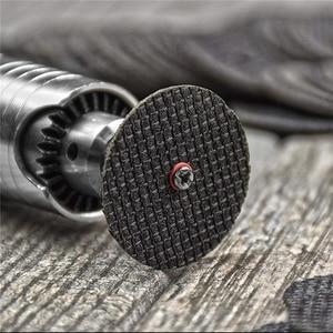 Image 2 - POLIWELL disques de découpe en résine à Double Fiber, + roues de découpe de tige de 3mm de diamètre pour outils de coupe minces rotatifs en métal Dremel, 10 pièces