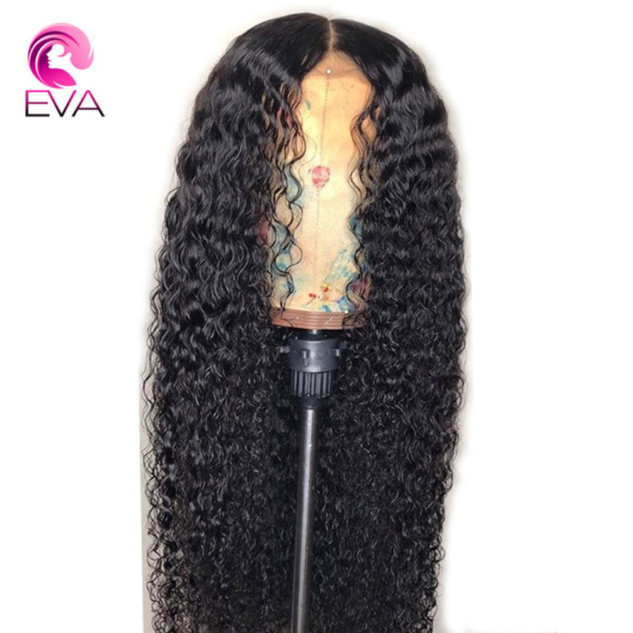 Eva Hair Curly Lace Front Human Hair Wigs Pre Plucked With Baby Hair 13x4 Lace Frontal Wigs For Black Women Brazilian Remy Hair-in Human Hair Lace Wigs from Hair Extensions & Wigs    1