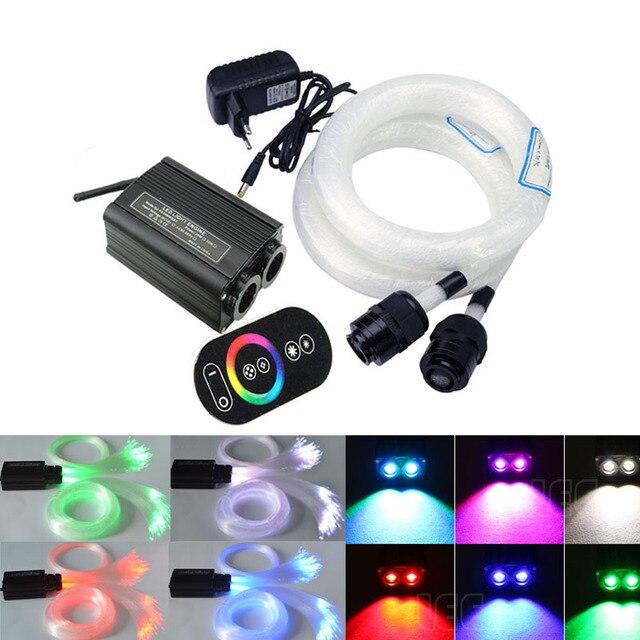 Fiber Optic Star Ceiling kit 2 roll 3/4M  optical Fiber +32W RGB Double Heard LED Fiber Optic Engine RF Touch Remote Controller