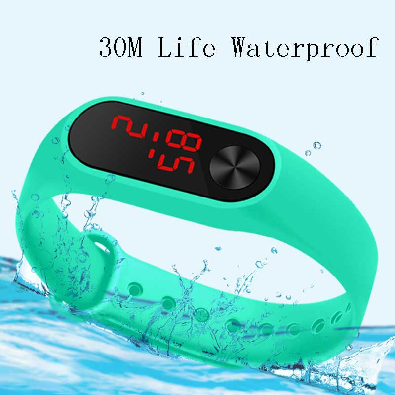 Hot Sell Children Watch LED Digital Watches Kids Wristwatch LED Electronic Watches Student Electronic Clock Silicone Sport Band