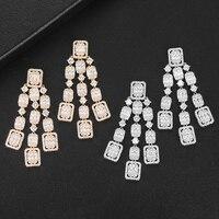 LARRAURI Famous Brand 2020 Charms Bagutte Cut Wedding Jewelry For Women Drop Statement Earrings Accessories