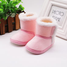 winter baby boys girls shoes winter infants warm Snow Boots Faux fur girls baby booties boy baby boots #C(China)