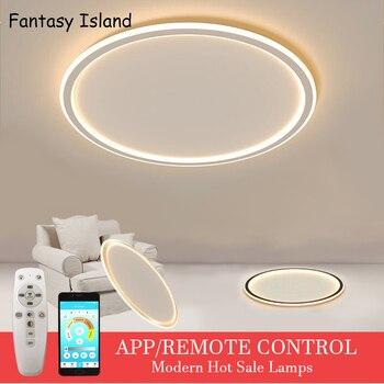 Novedad de 2020, lámpara de techo Led, lámpara de ambiente minimalista nórdica para el hogar y la sala de estar, lámpara de techo LED creativa, accesorio Led