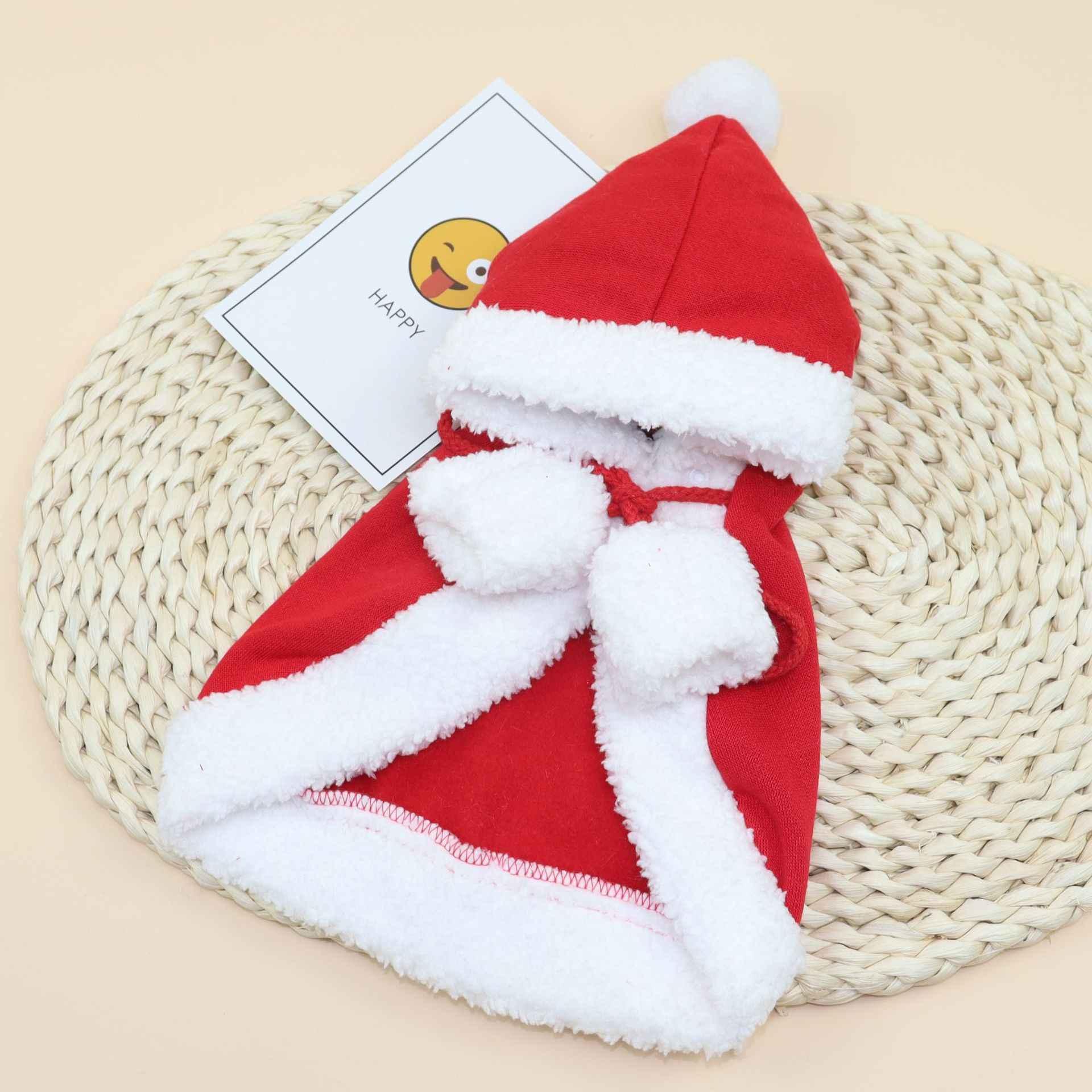 Commercio all'ingrosso Pet Dog Cat Sciarpa Cap Mantello Della Fascia Set Regali di Festa Di Natale Vestiti di Inverno