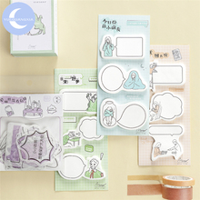 YUEGUANGXIA 60pcs/lot Creative Dialogue Minimalist Memo Pads Sticky Notes Notepad Diary Self-Stick Note 6 Designs