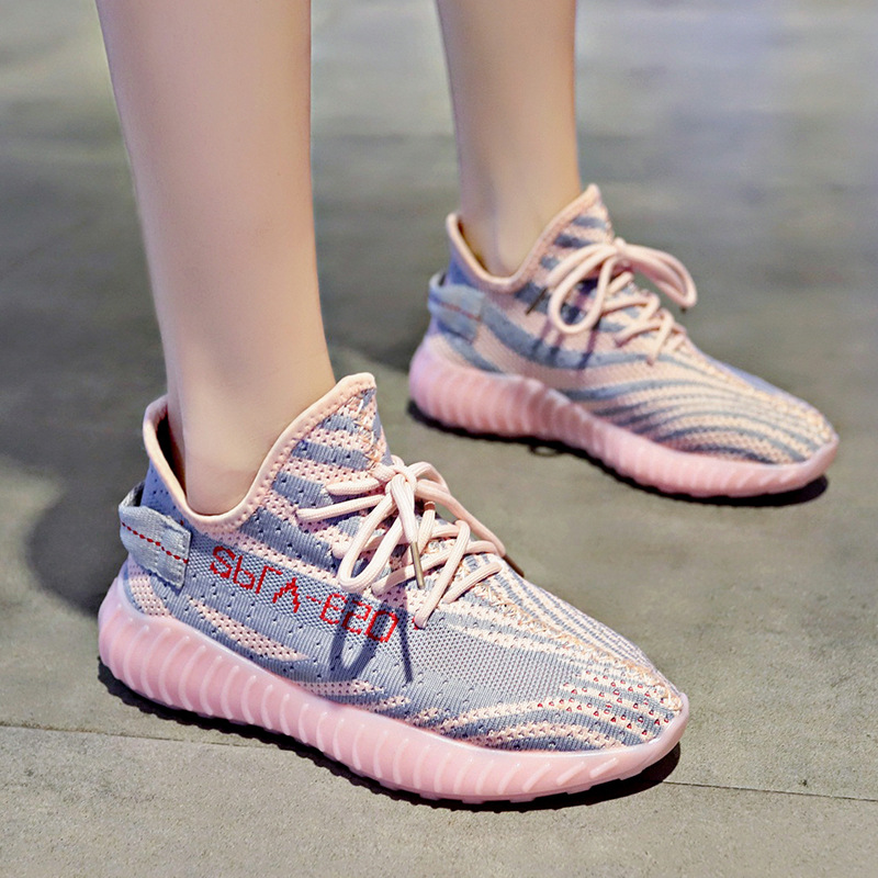 Snake Pattern Coconut Shoes Sneakers Female 2019 Autumn New Angels Explosive Fly Mesh Shoes Women's Breathable Sports Running