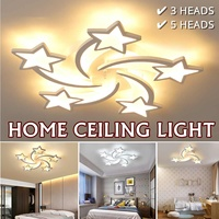 3/5 Heads Acrylic LED Ceiling Light 85V 265V Stars Ceiling Lamp Hallway Kids Bedroom Home Decoration Dimmable Lighting Fixture Plafonniers     -