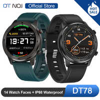 DT NO.1 DT78 Rotondo Touch Control Smart Watch 14 Multi Watch Faces Smartwatch Bracciale Fitness Activity Tracker Uomo Donna Dispositivi indossabili Fascia Cardiofrequenzimetro Informazioni Push Call Reminder