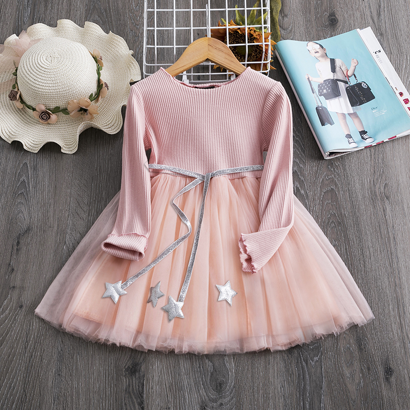 H0c4fa932441544fca6bc61c552c0dc60Z Red Kids Dresses For Girls Flower Lace Tulle Dress Wedding Little Girl Ceremony Party Birthday Dress Children Autumn Clothing