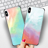 silicone case Tempered Glass Case For apple iphone XS MAX XR X XS glass Cases Space Silicone Covers for Iphone 6 6s 7 8 plus back cover (2)