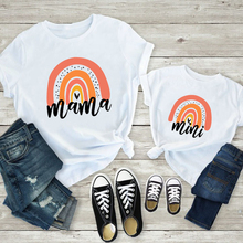 Family Matching Shirt Outfits Rainbow-Mommy Girls Boys Mini Me And Cute Fashion