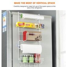 Многофункциональная стойка для холодильника боковая полка боковой держатель Органайзер Ho использовать держать многослойный холодильник крючок для склада кухонного использования