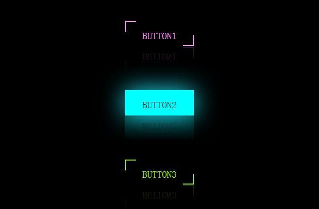 css3鼠标悬停按钮发光特效