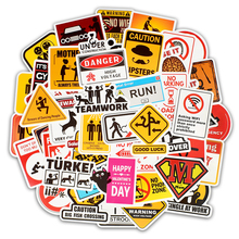 50Pcs Logo Waterproof Sticker Mixed Cartoon Toy Sticker for Car Styling Bike Motorcycle Phone Laptop Travel Luggage Cool Sticker 55pcs mixed retro style travel hotel logo roma paris los japan chicago hawaii baghdad trip car sticker waterproof doodle decal