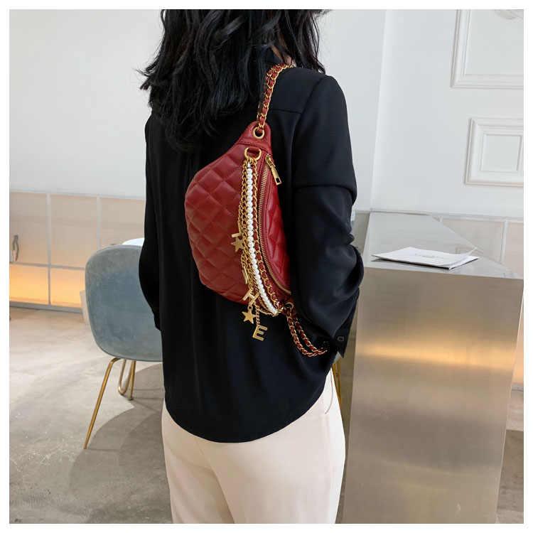 Женская сумка Lingge, новинка 2021, корейская мода, универсальная текстурная сумка через плечо с цепочкой в западном стиле, нагрудная сумка через плечо