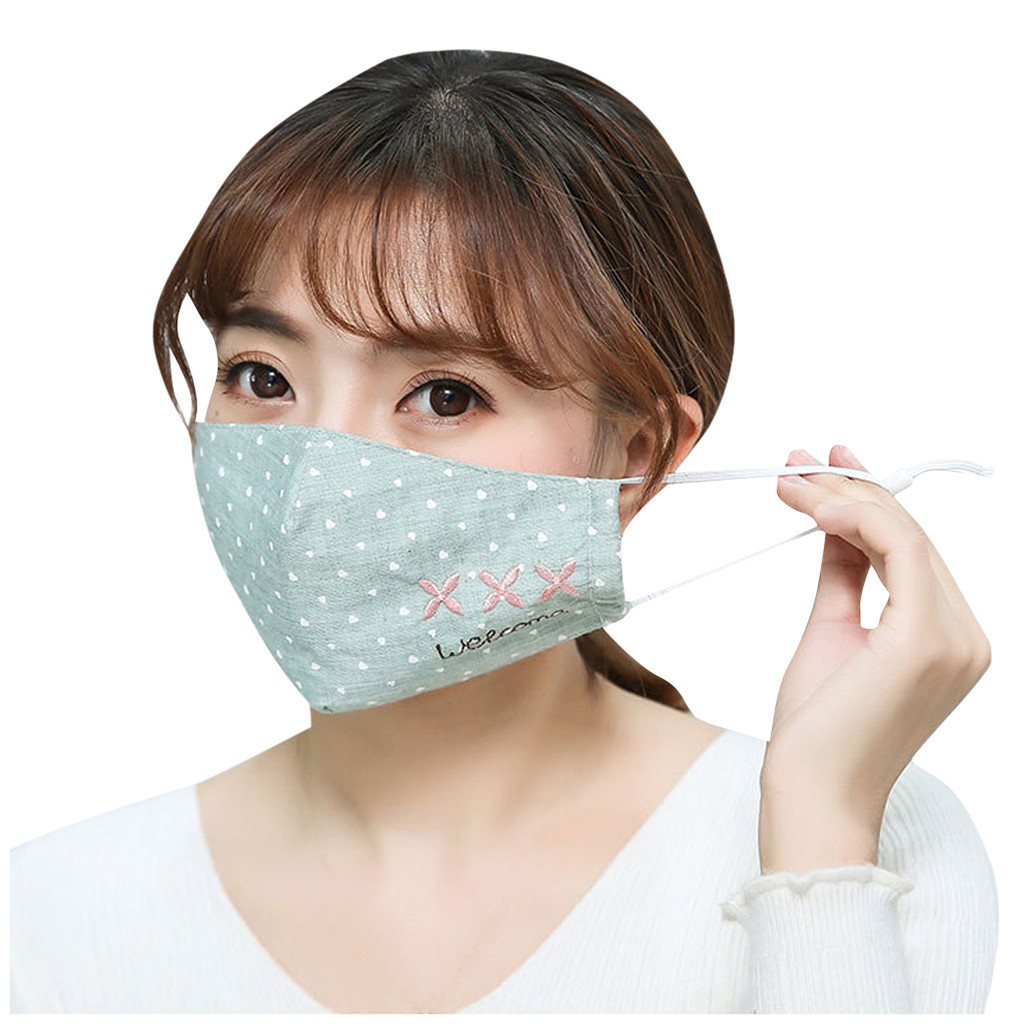 Adult Women Fashion Unisex Breathable Mouth Mask Star Printed Outdoor Anti-Dust Double-layer Adjustive Mask #A