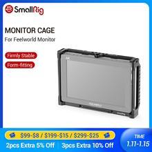 Smallrig 7 Polegada monitor gaiola para feelworld t7 703 703s e f7s monitor gaiola protetora com nato ferroviário rosqueamento buracos 2233
