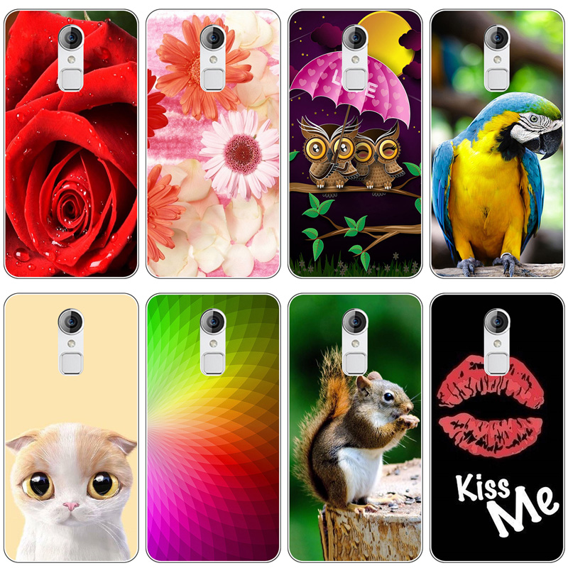 Soft Silicone Case For <font><b>ZTE</b></font> A1 Case Coque For <font><b>ZTE</b></font> Blade A1 C880A C880U <font><b>C880S</b></font> C880 Cover Flamingo Painted Case Back Fundas image