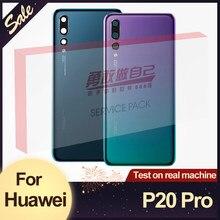 Оригинальная задняя крышка батарейка для Huawei P20 Pro Задняя Крышка Сменный корпус с объективом камеры для Huawei P20 Pro задняя крышка с логотипом