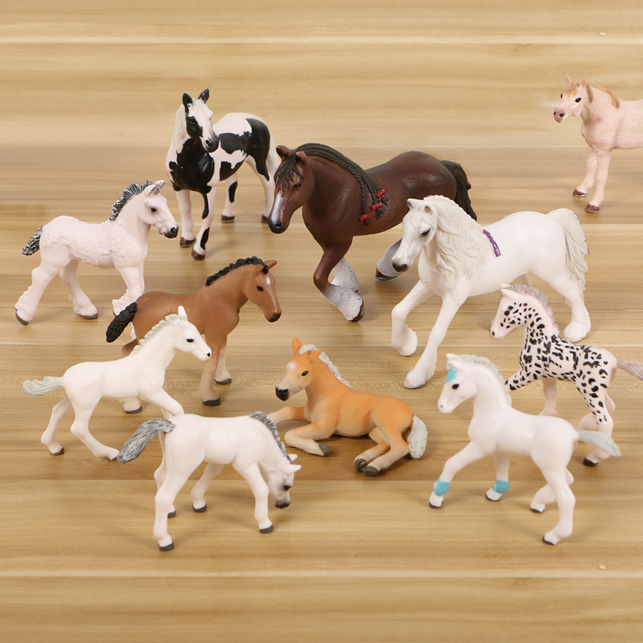 PVC Simulated Animal Horse Model Solid Emulation Action Figures Learning Educational Kids Toys For Kids