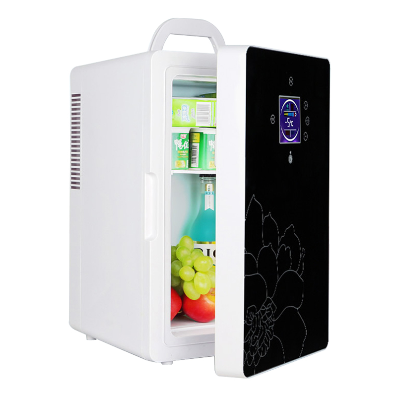 DC-005 Car Refrigerator 16L Dual-core LCD Display Temperature Control Mini Refrigerator Home Dormitory Cosmetic/insulin Fridge