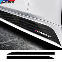 ///Performance Sport Stripes Carbon Fiber Car Door Side Skirt Sticker For-BMW 1 series F20 E82 E88 F52 Limited Edition Decals