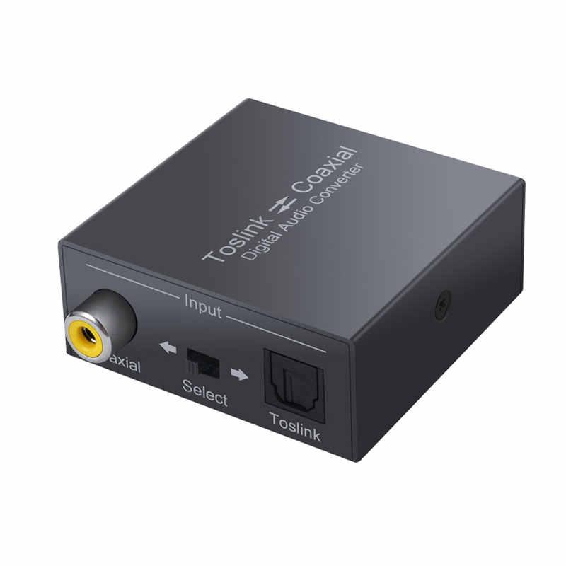 192 デジタルオーディオコンバータ双方向 SPDIF & 同軸コンバータ SPDIF 同軸とトスリンク光スプリッタアダプタ