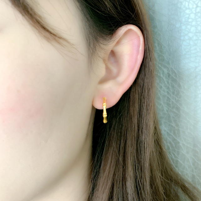 ZHIXI 100% 18k Yellow Gold Stud Earrings Real 5D Fine Jewelry AU750  Fashion Wedding Birthday Gift For Women 2021 6