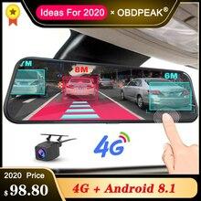 """A980 4G Android 8.1 ADAS 10 """"Dòng Chiếu Hậu Dash Cam Camera Máy Ghi Hình Xe Hơi Đầu Ghi Hình Dashcam đồng Hồ Định Vị GPS 1080P"""