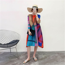 Women's clothes Miyake fold 2020 big yards loose Dress temperament covered the n