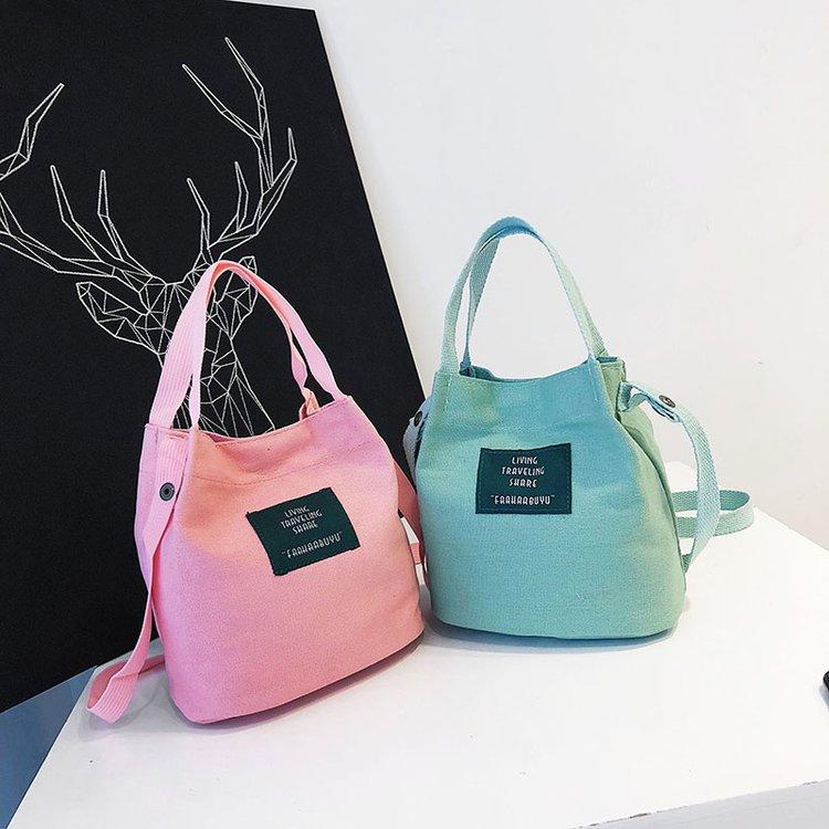 Women Bucket Bag Messenger Bag High Quality Retro Shoulder Bag Simple Crossbody Bag Tote New Fashion Scrub