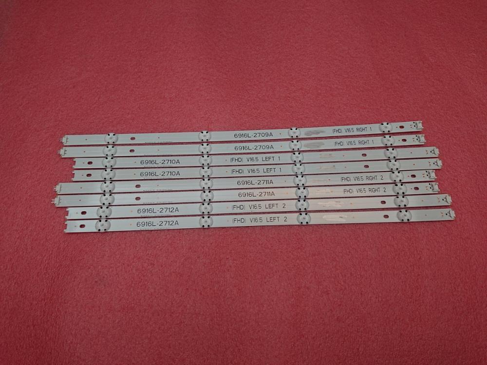 New 8 PCS LED Backlight Strip For LG 49LH570V 49LF5100 49LJ5100 49LH590V 49LH570V UE49K6300AK 6916L-2709A 2710A 6916L-2711A 2712