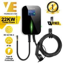 EV Station de recharge pour véhicule électrique chargeur avec le Type 2 câble 32A triphasé Norme IEC 62196-2 pour Audi mercedes-benz MINI Cooper Smart