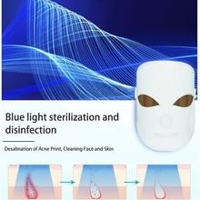 Светодиодный маска для лица красота омоложение кожи Фотон светильник светодиодный терапия маска с шеи терапия морщин акне подтяните кожу инструмент спа