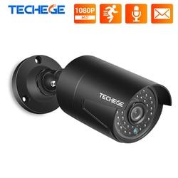 Ip-камера Techege уличная Водонепроницаемая с ночным видением, 2 МП, 48 В, POE, IP66, ONVIF, с датчиком движения, для системы видеонаблюдения, NVR