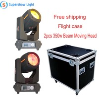 Free Shipping 2pcs with Flight Case 350W Beam Moving Head Light 17R Sharp Beam Moving Head Pro Light Moving Heads