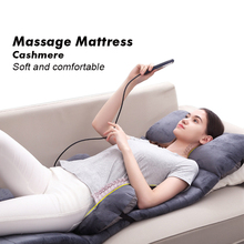 Body Massager Pads Heating Vibration Mattress Neck Back Massage Cushion Acupuncture Health Care Equipment With Back Support Mat цена 2017