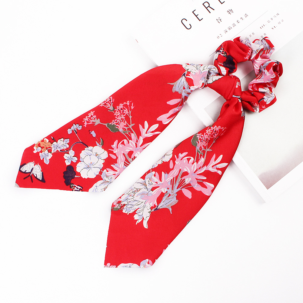 H0c511a307cdc4876bedc398338a035b0g - Fashion Silk Satin Summer Ponytail Scarf Stripe Flower Print Ribbon Hairbands Hair Scrunchies Vintage Girls Hair Accessoires