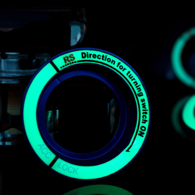 Car Styling Luminous Car Ignition Device Ring Aluminum Alloy Decorative Ring Keyhole Decoration Cover Mini Cooper For Auto
