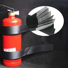 4 unidades/juego organizador de maletero de coche extintor correas de montaje bolsa de almacenamiento cintas fijación vendaje pegatinas de soporte correas