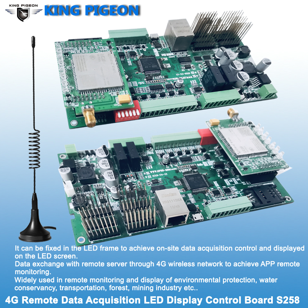 S258 Remote Acquisition LED Control Board For  Smart Environmental Protection Monitoring Solution