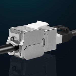 Image 2 - RJ45 Keystone, cat 6a/7, sans outils, Module en alliage de Zinc, blindé, adaptateur pour réseau, 10 go