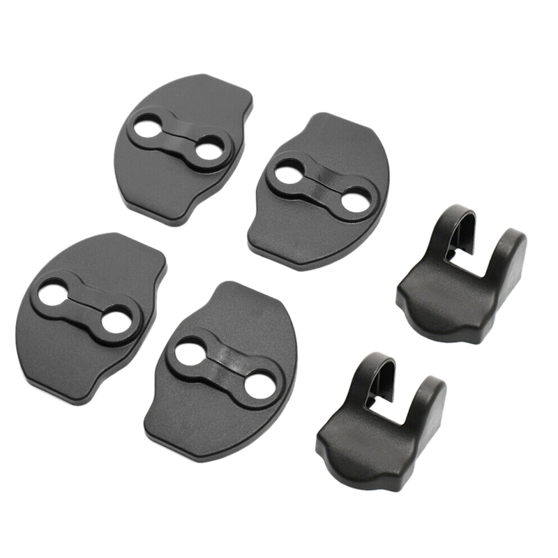 6Pcs Car Auto Door Lock Protective Cover Trim Replace For Tesla Model 3 2017-19